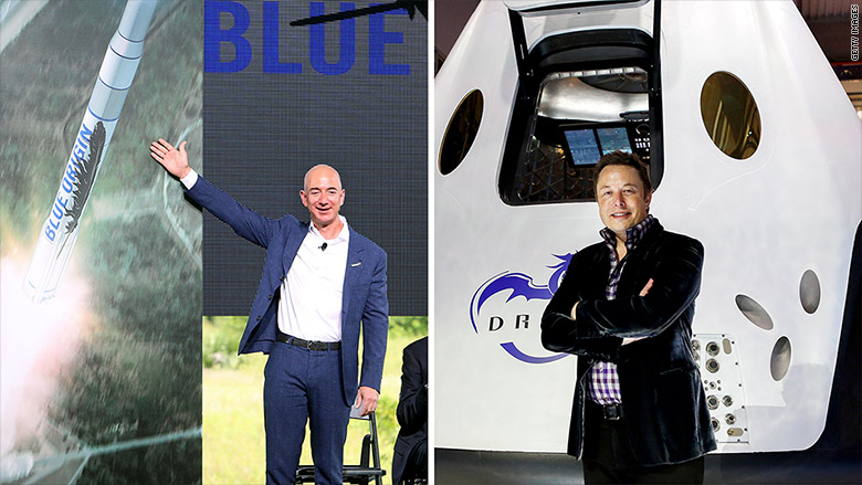Elon Musk to Jeff Bezos: Congrats, but...