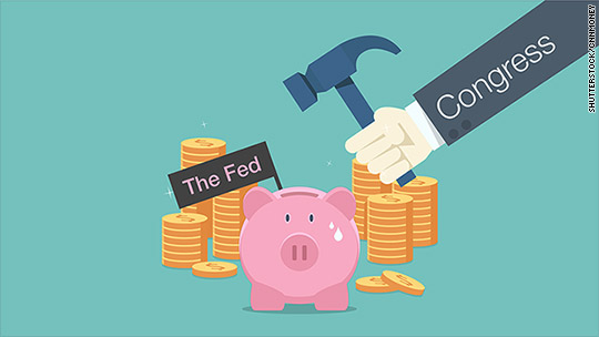 Congress wants billions from Fed's piggy bank
