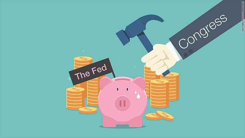 fed congress piggy bank