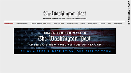 WaPo's 'publication of record' claim draws NYT shots