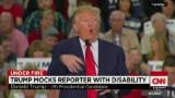 Donald Trump mocks reporter's disability