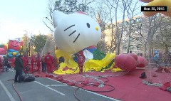 Time Lapse: Macy's Thanksgiving Day parade balloons inflate