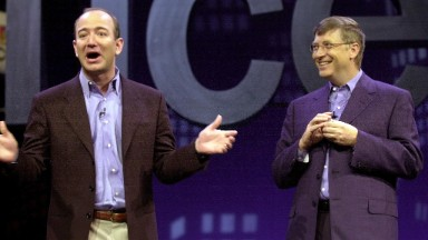 Hey, Bill Gates! Jeff Bezos is almost richer than you