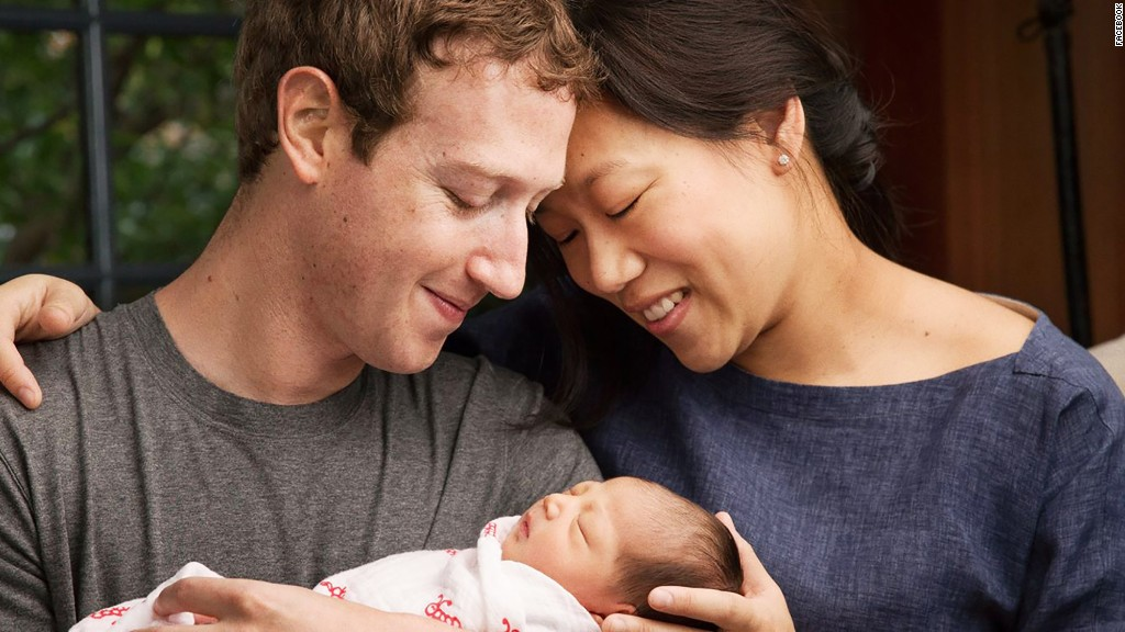 Mark Zuckerberg and Priscilla Chan welcome daughter Max