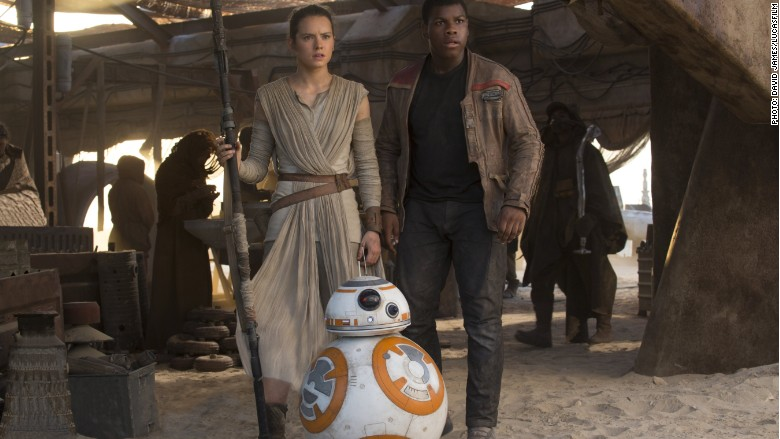star wars rey finn bb8