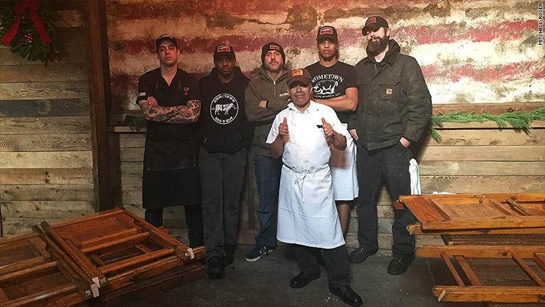 hometown barbecue staff