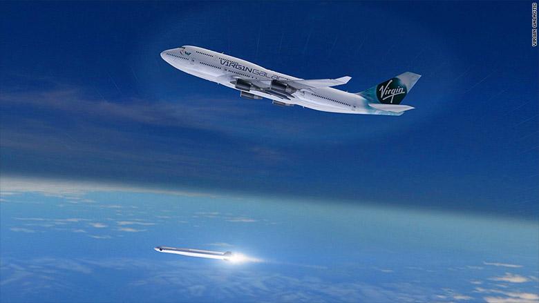 virgin galactic 747 launch