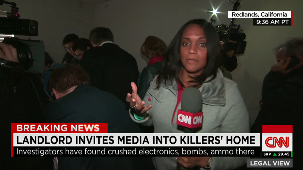 Media swarms San Bernardino shooters' home