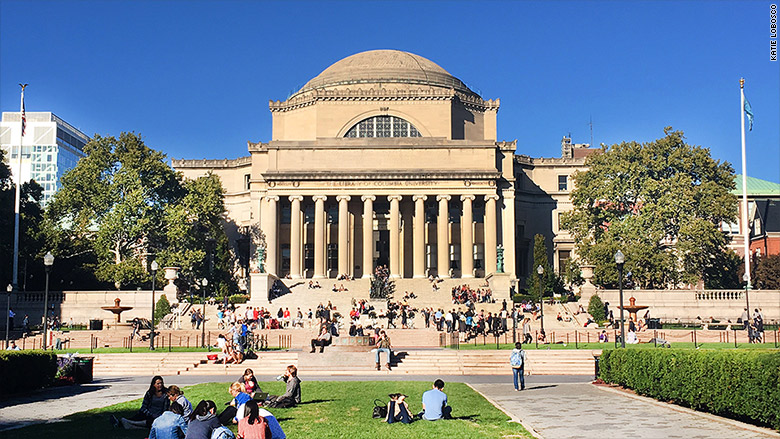 top paid college pres columbia
