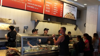 chipotle people being served
