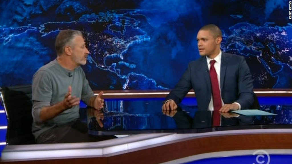 Jon Stewart visits 'The Daily Show'