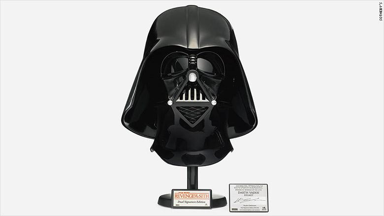 star wars auction vader helmet