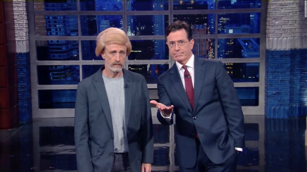 Watch Jon Stewart 'bring the Trump' on 'Late Show' - Video - Media
