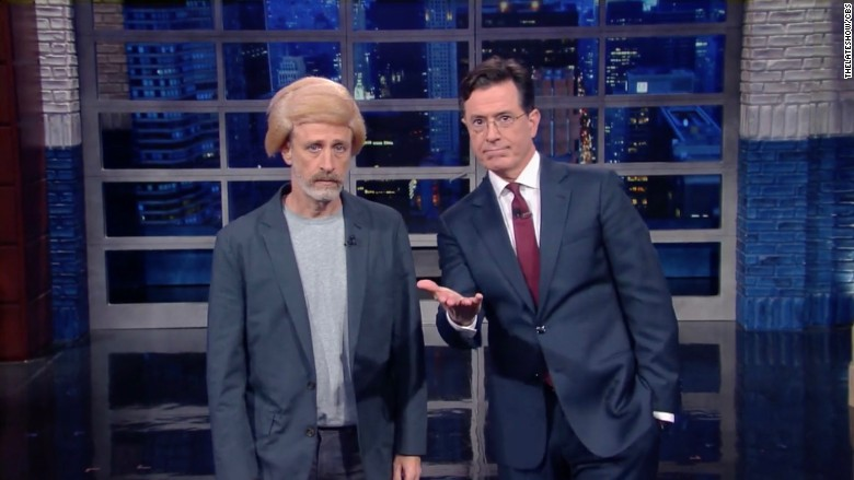 Stephen Colbert 'Trumps up' Jon Stewart on 'Late Show' - Dec. 11, 2015