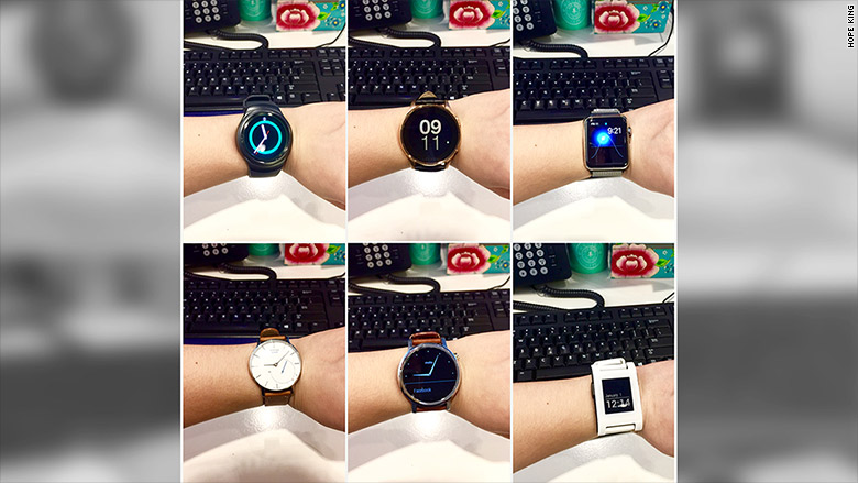 smartwatch review collage