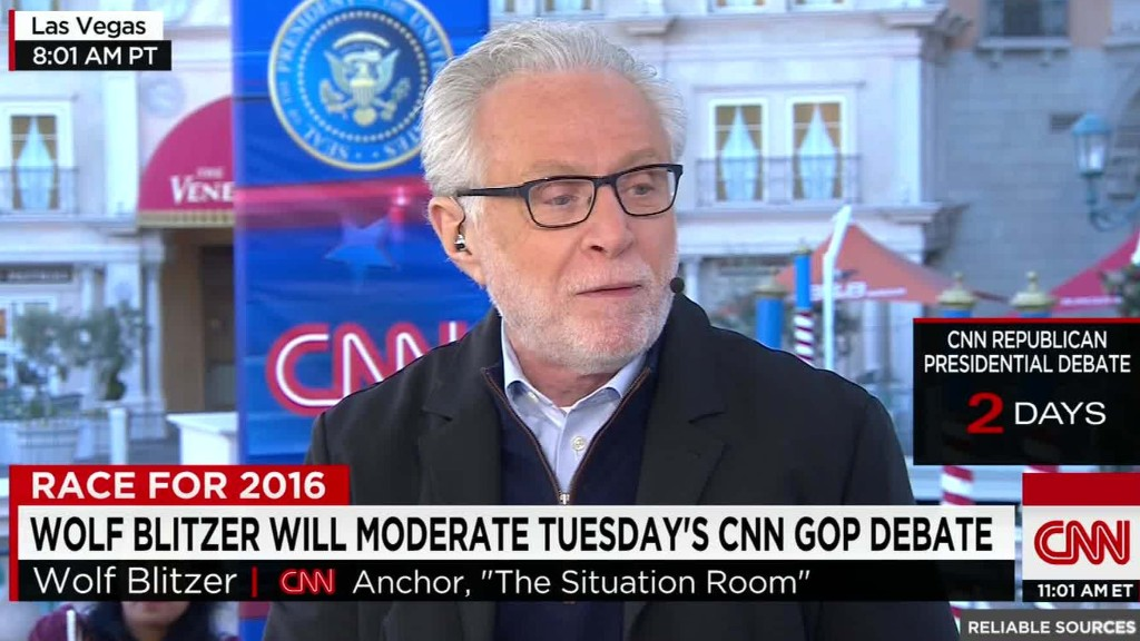 Wolf Blitzer's GOP debate preparations