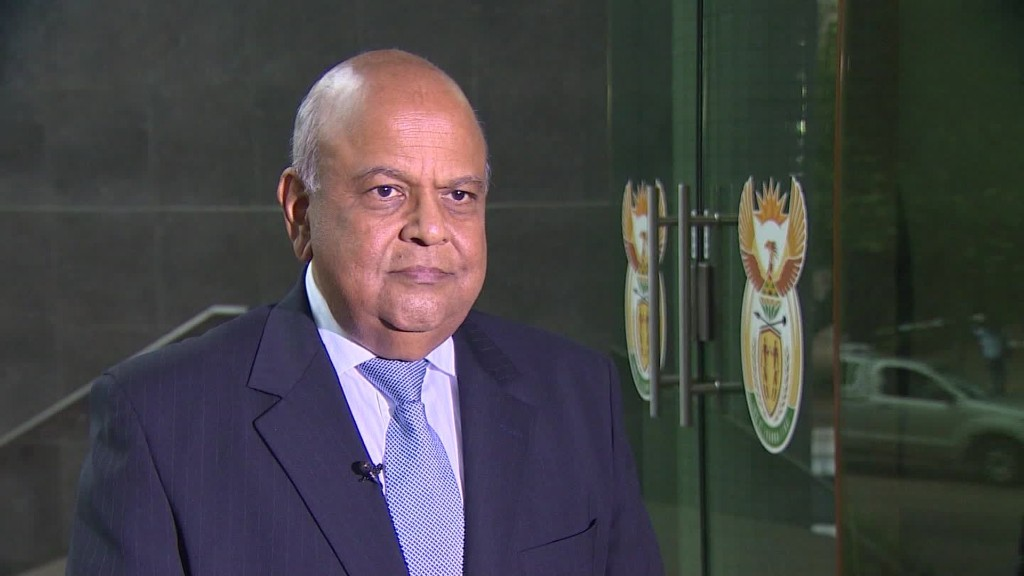 Meet South Africa's third finance minister in one week
