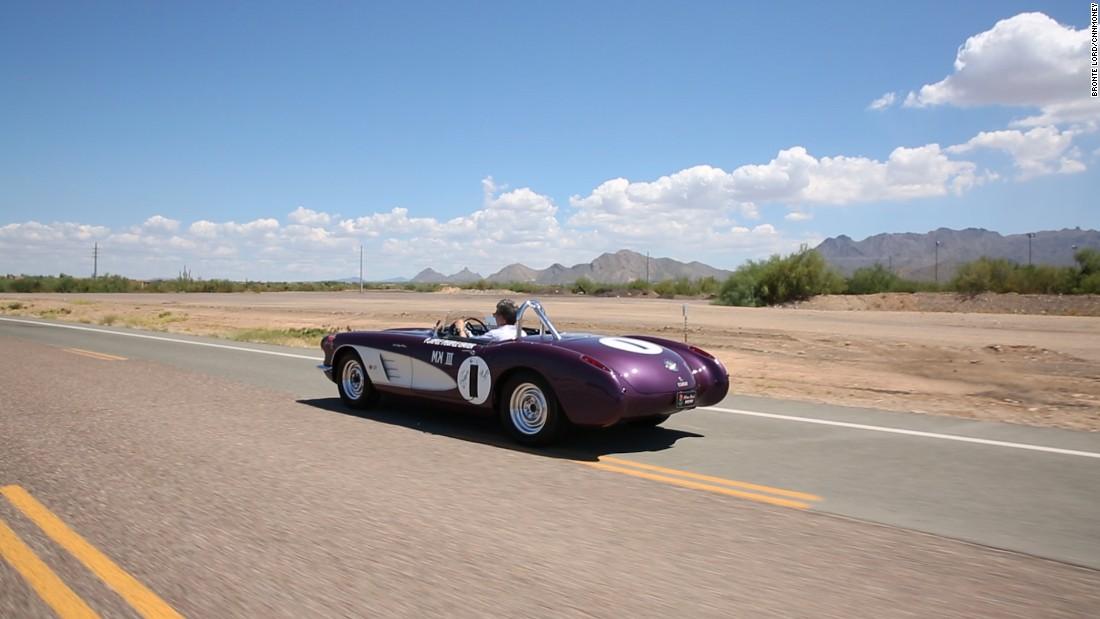 gallery purple people eater corvette wide behind driving