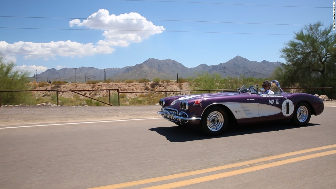 gallery purple peoplee eater corvette driving front