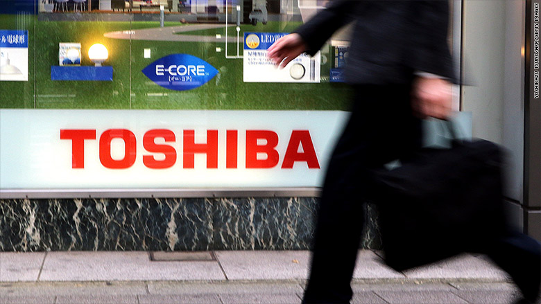 toshiba stock prices