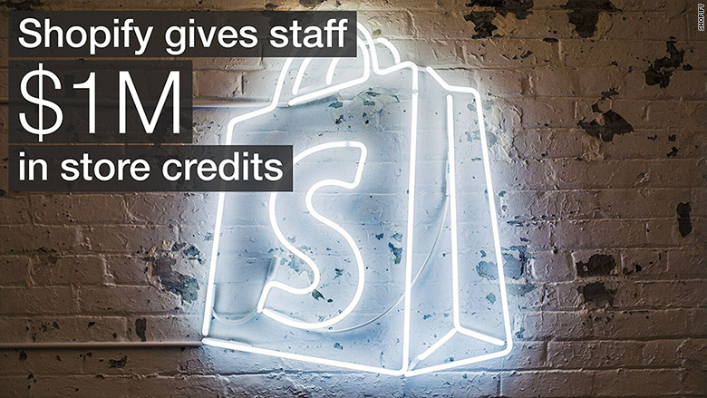 shopify store credits employees