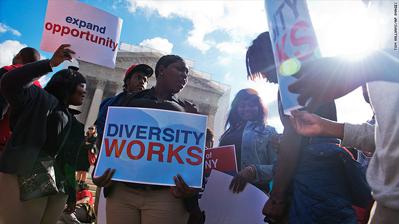 affirmative action rally supreme court