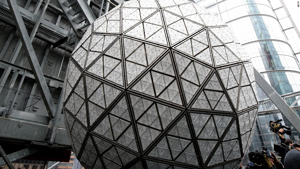 The New Year's Eve ball by the numbers