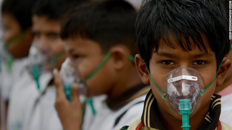 delhi air pollution kids