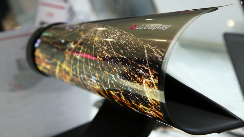 LG shows off a TV you can roll up like a newspaper
