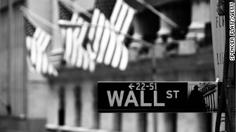 wall street sign flags