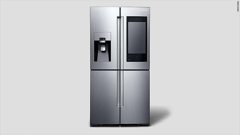 samsung fridge silver front
