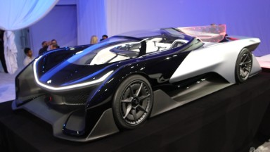 First look at Faraday Future's electric racecar