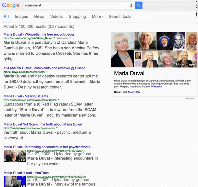 maria duval 1 google search