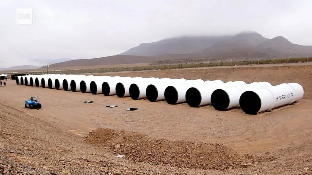 We saw the first Hyperloop tubes in the desert