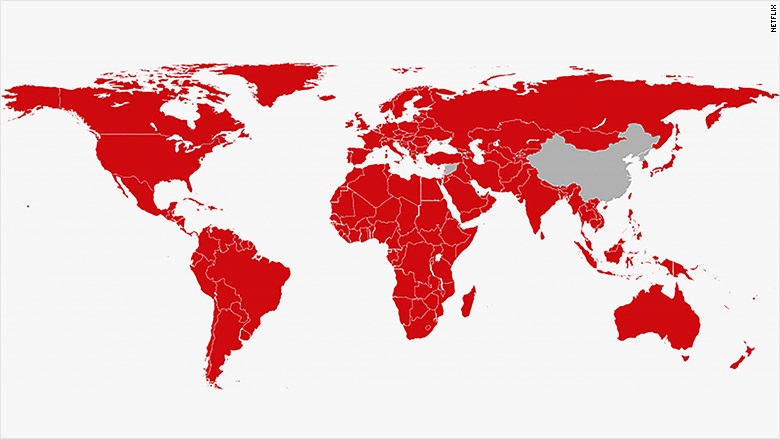 netflix available countries map
