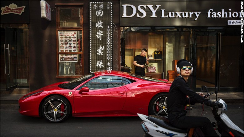 China Europe luxury goods shares fall