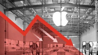 apple stocks falling