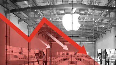 Apple stock slumps to near 2-year low