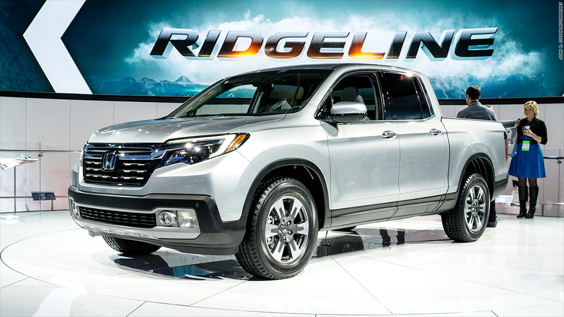 honda ridgeline cool cars from the detroit auto show cnnmoney. Black Bedroom Furniture Sets. Home Design Ideas