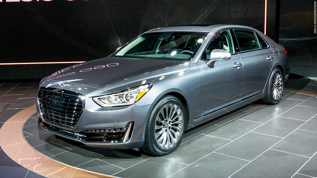 genesis g90 cool cars from the detroit auto show cnnmoney. Black Bedroom Furniture Sets. Home Design Ideas
