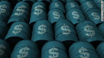 oil barrels money