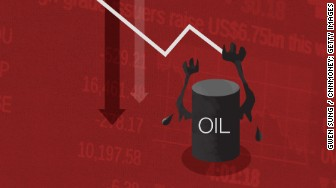 oil brings stocks down