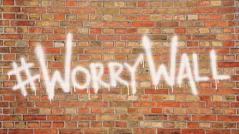 worry wall graffiti