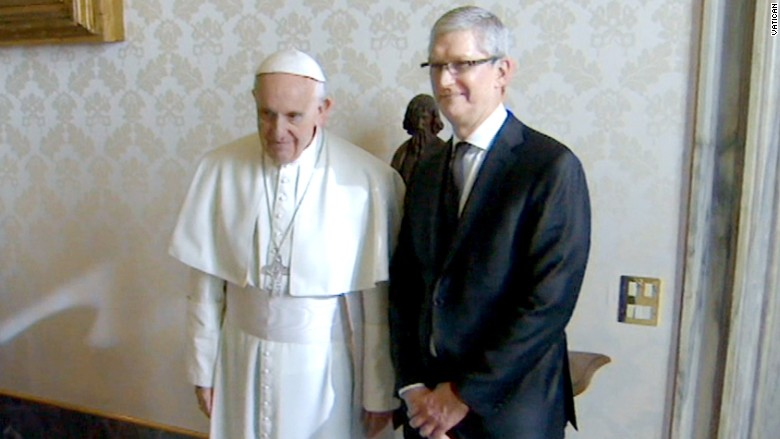 tim cook pope