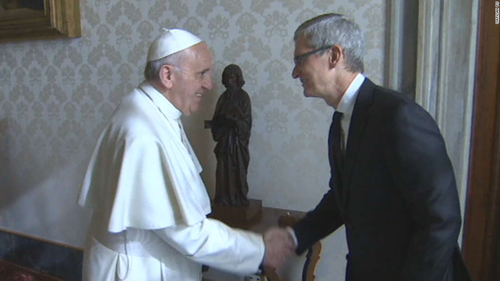 Apple's Tim Cook visits Pope Francis in the Vatican