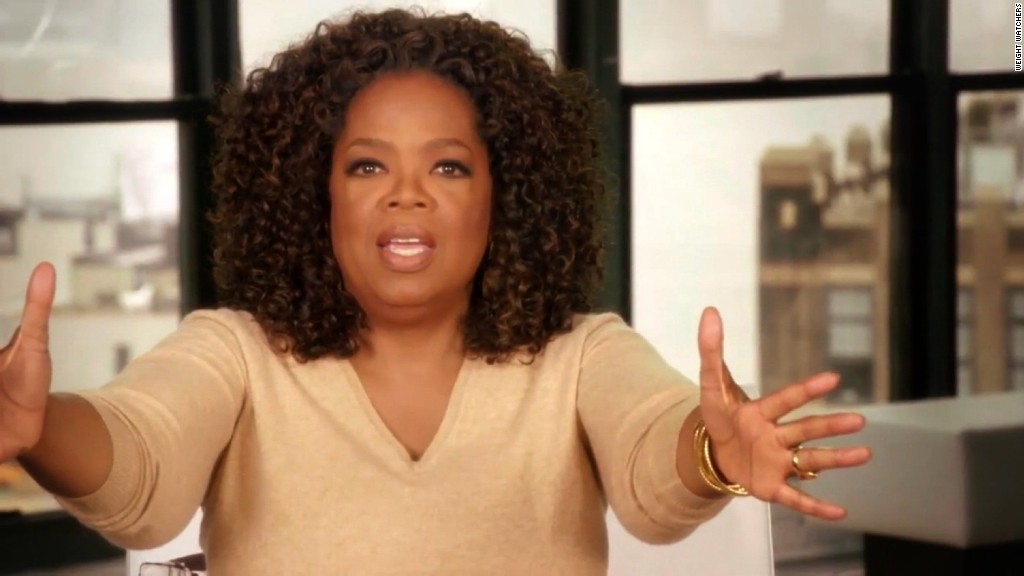 Oprah drops pounds, Weight Watchers stock gains