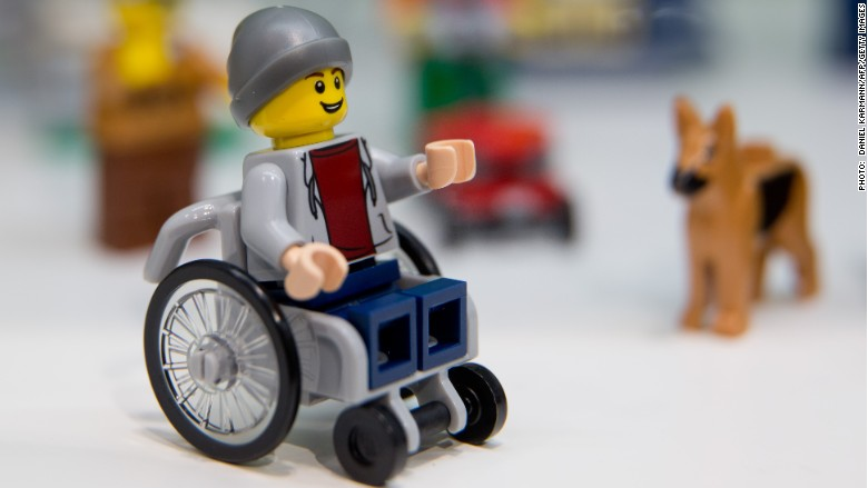 Lego wheelchair figure