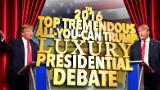Colbert moderates a Trump vs. Trump debate