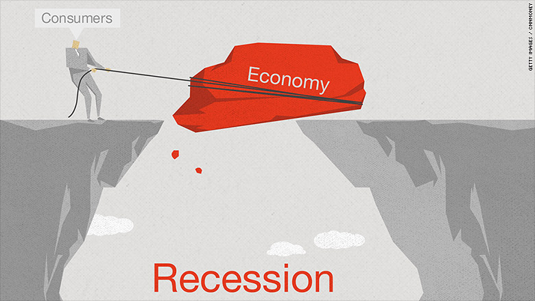 dragging into recession