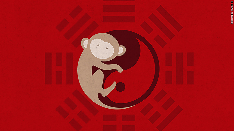 Chinese new years 2016 monkey
